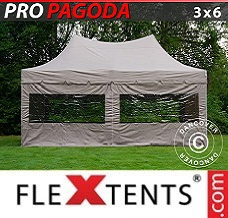 Gazebo rapido 3x6m Latte, incluso 6 pareti...